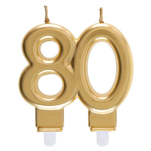 80th Birthday Gold Candle