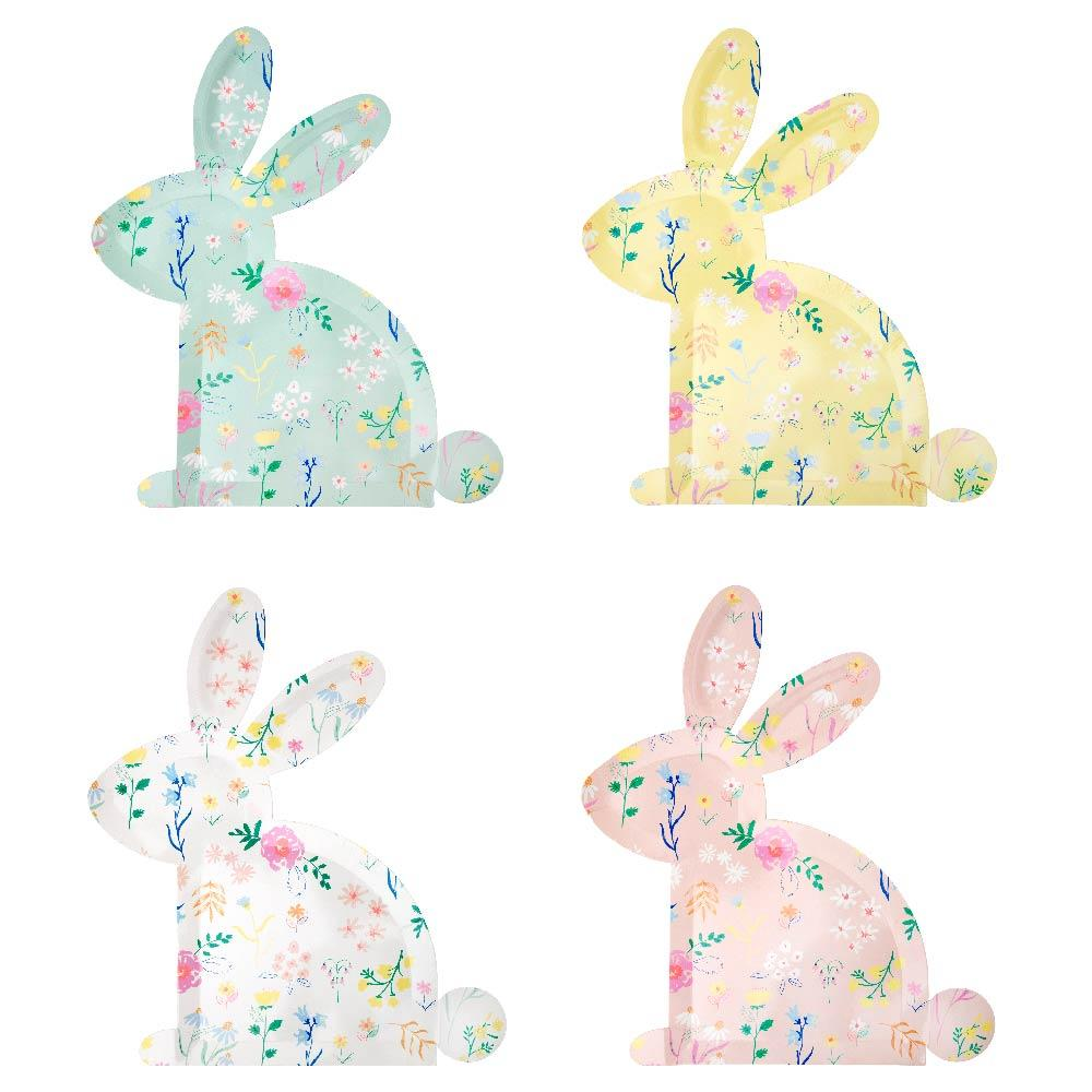 Wildflower Bunny Plates (x12)