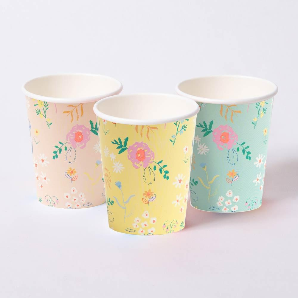 Wildflower Pastel Cups (x12)