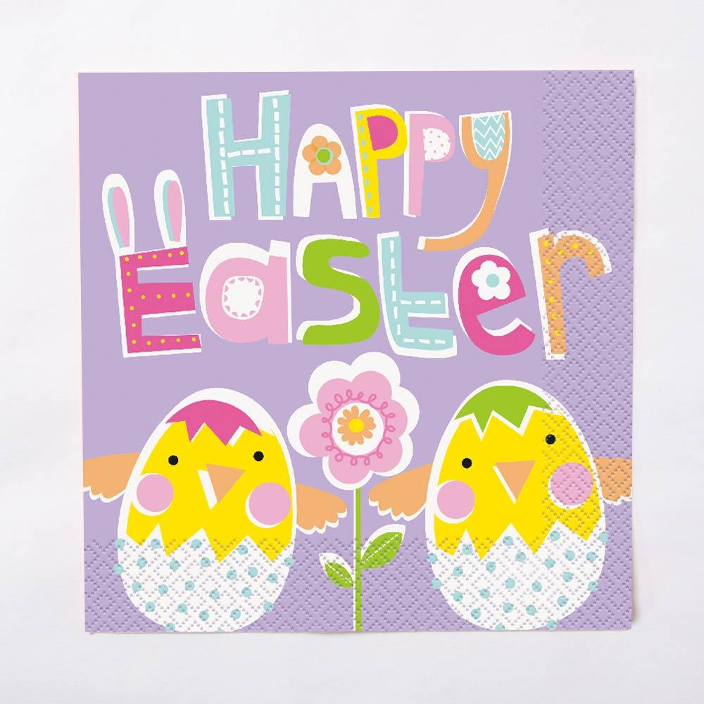 Lilac Happy Easter Napkin (x16)