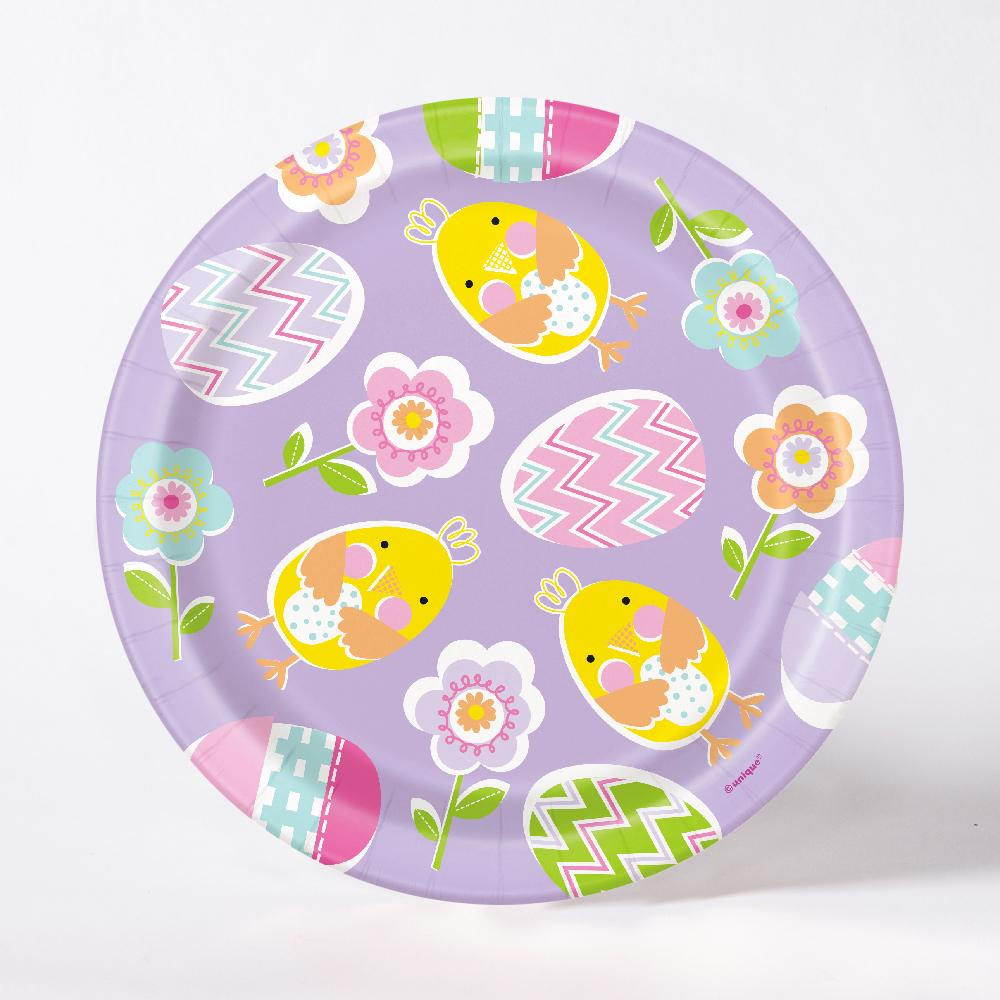 Lilac Happy Easter Plate (x8)
