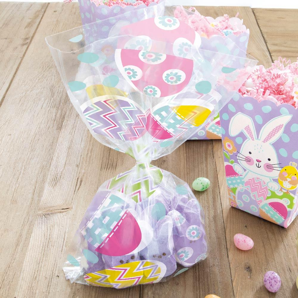 Lilac Happy Easter Cello Bags (x20)