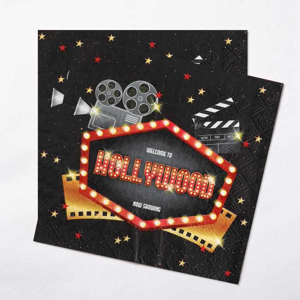Hollywood Party Napkin (x20)