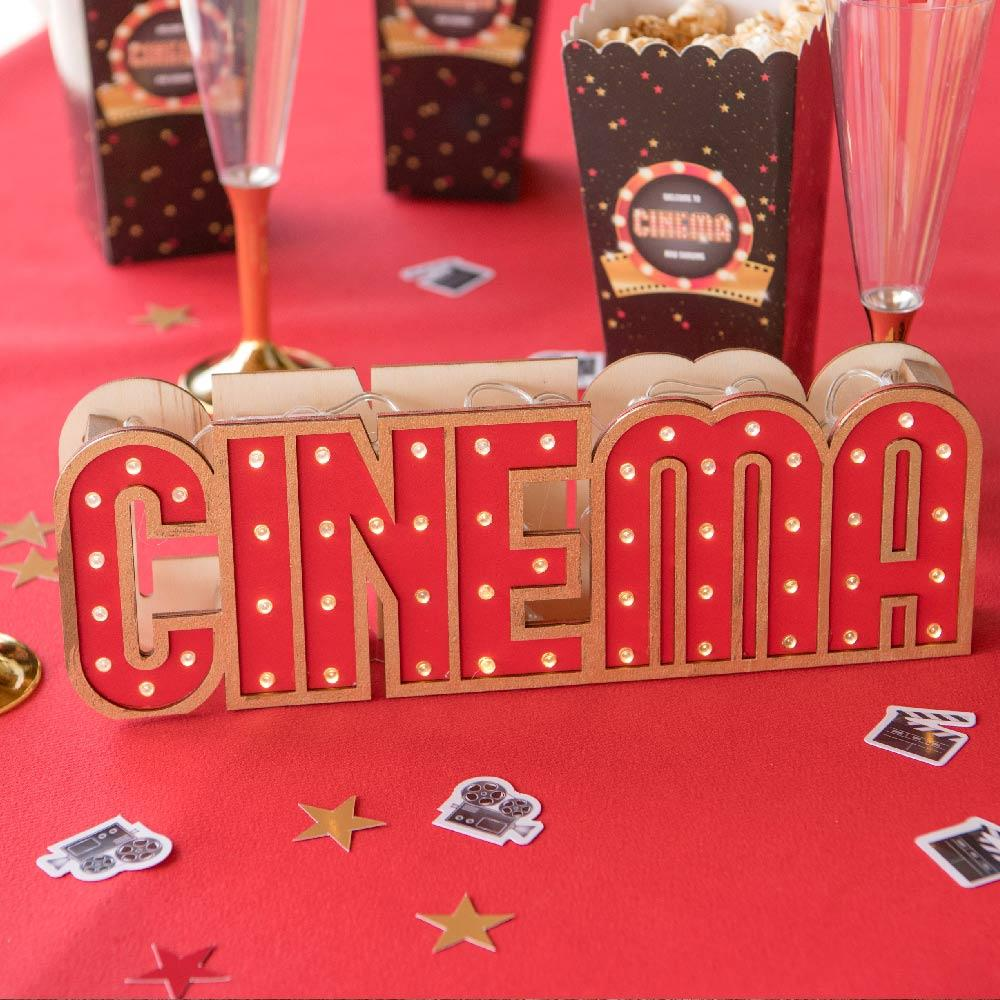 LED Light Up Cinema Table Decoration