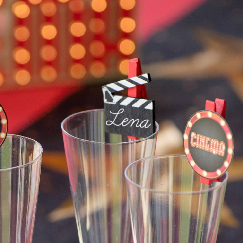 Hollywood Party Slate Pegs (x6)