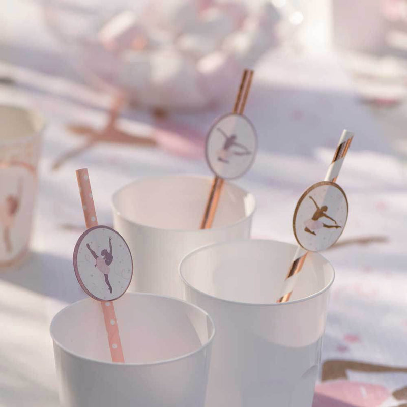 Ballerina Party Straws (x8)