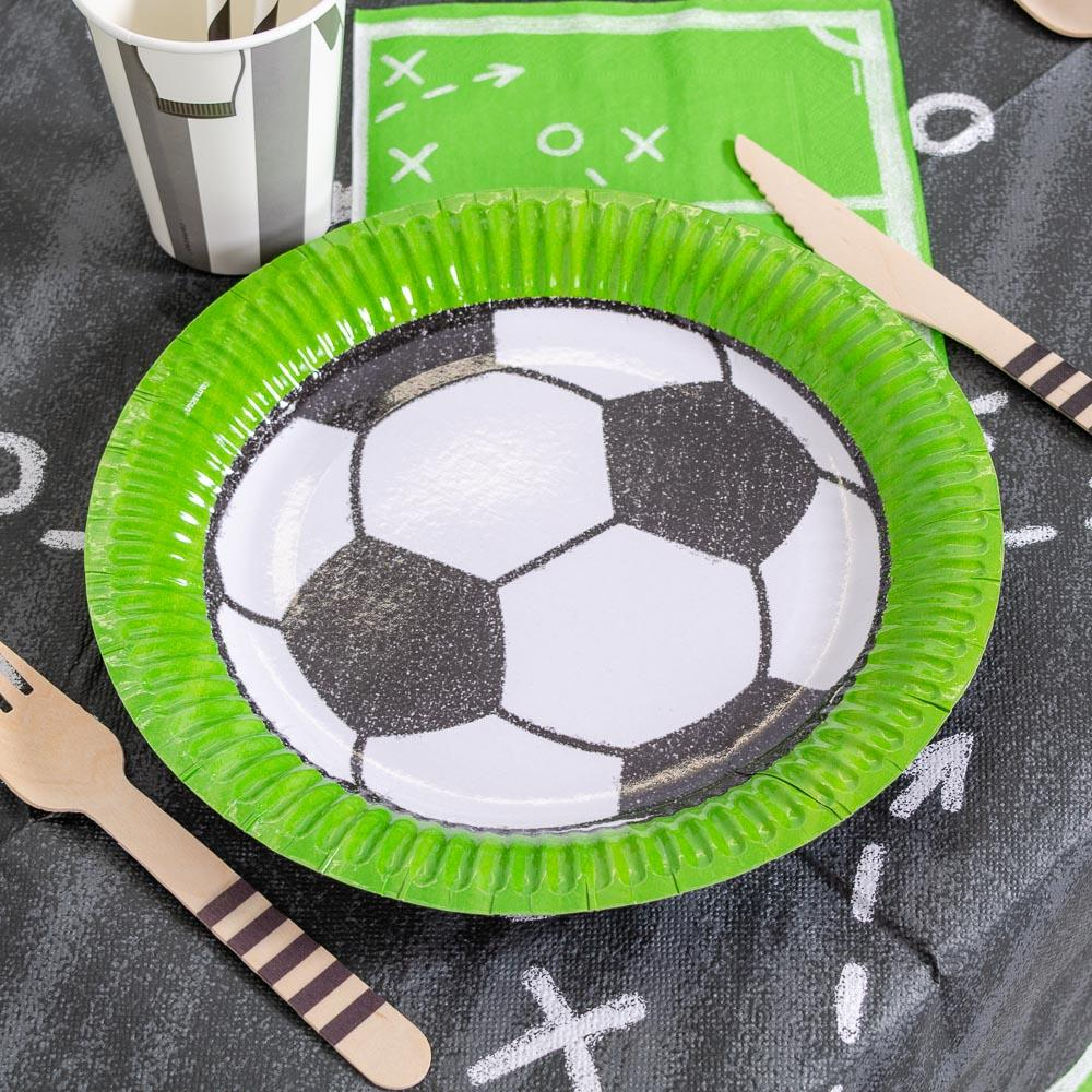 CC HOME American Football Party Supplies Pack,Super Bowl Party Decorations with Plates,Napkins,Cups,Forks,Knives,Spoons,Serves 16