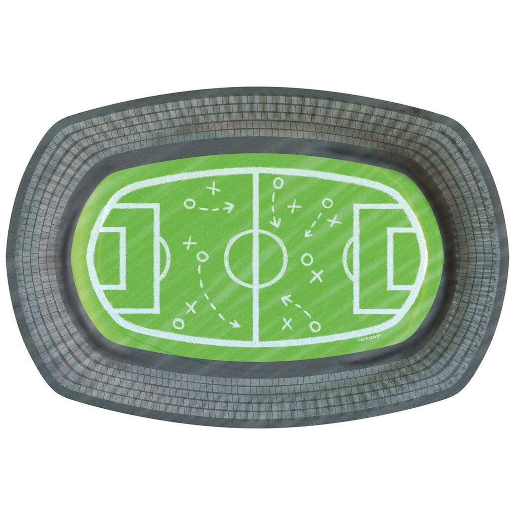 Kicker Party Paper Stadium Plates (x6)