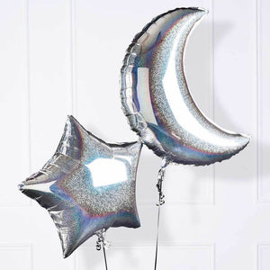 3,2,1...Blast Off Moon & Star Balloon (x2)