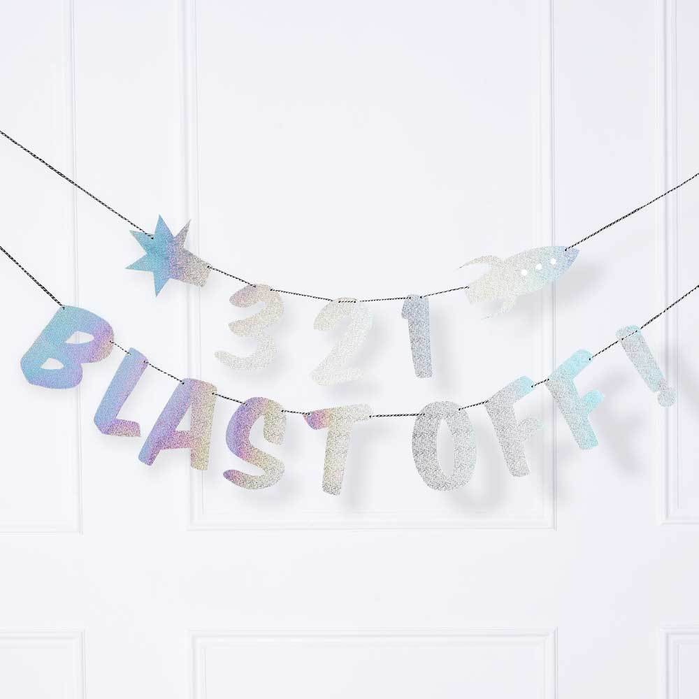 3,2,1...Blast off Party Banner