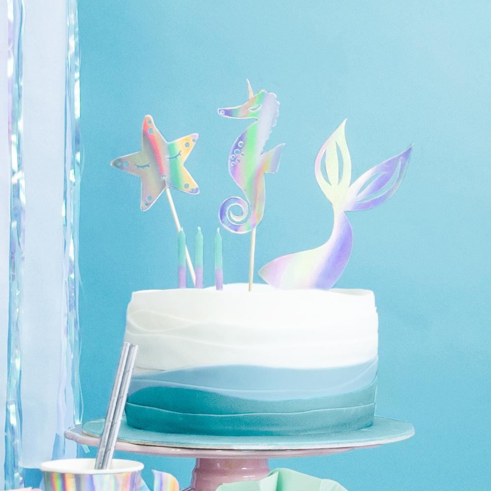 Mermaid Party Cake Toppers (x3)