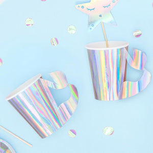 Mermaid Party Iridescent Paper Party Cups (x6)