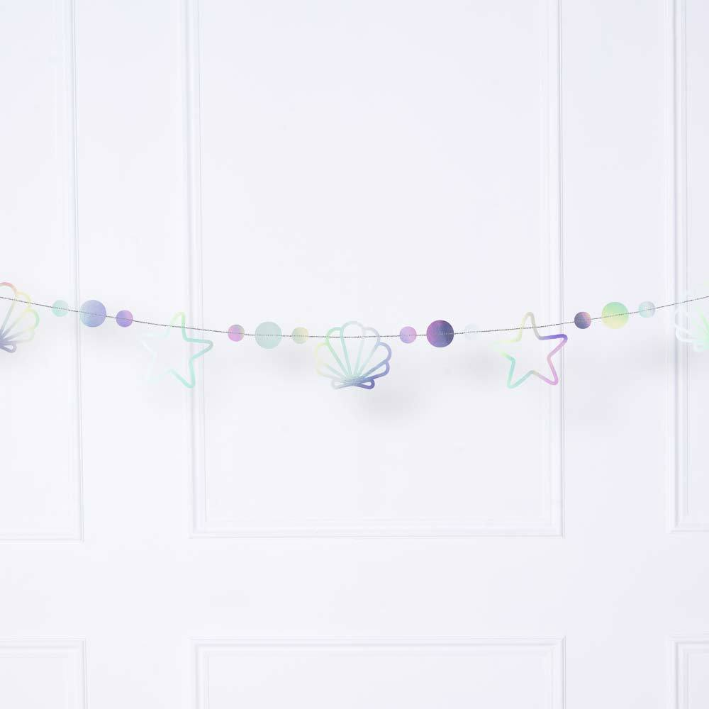Mermaid Party Iridescent Garland