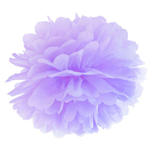 Tissue Paper Pom Pom Decoration Light Lilac