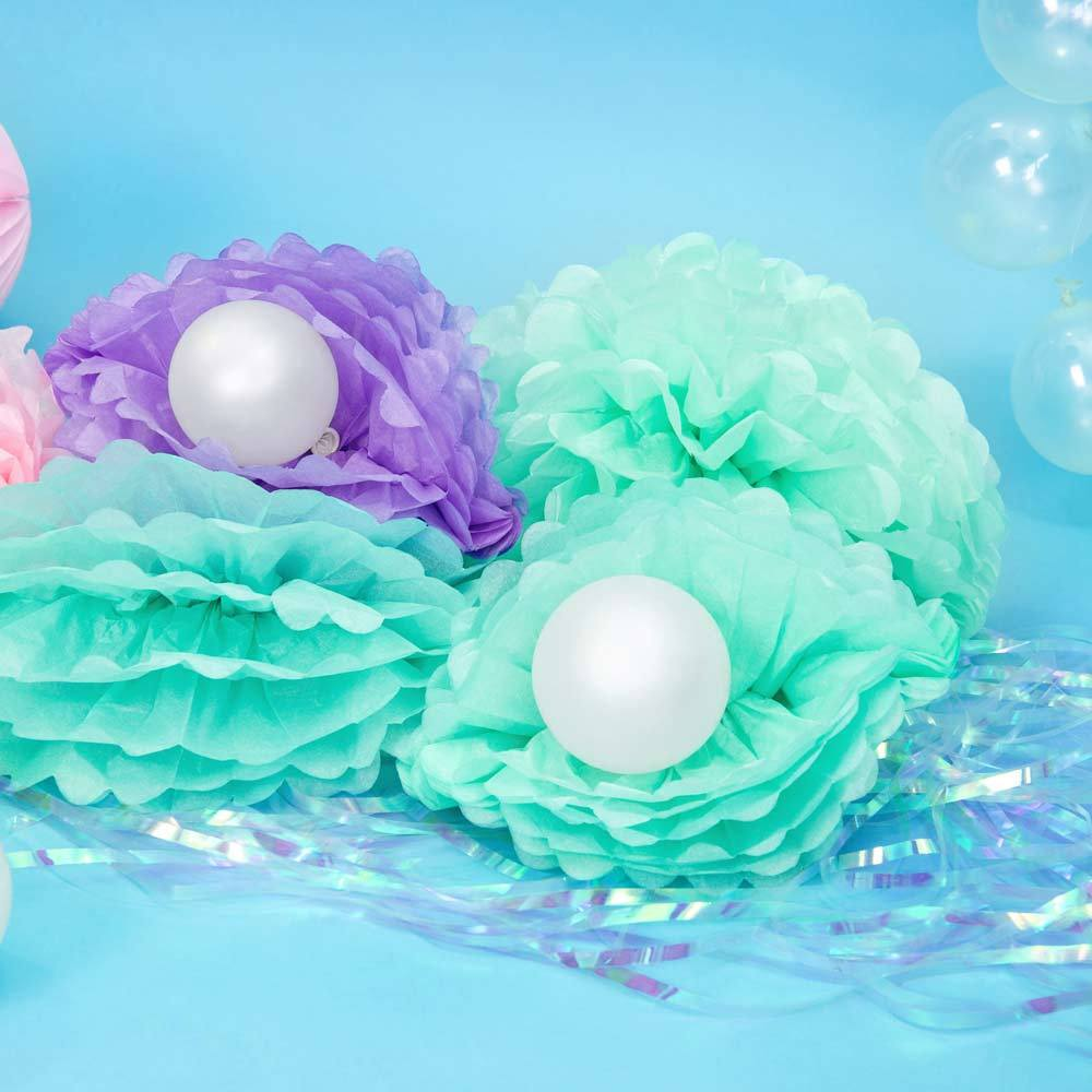 Tissue Paper Pom Pom Decoration Mint
