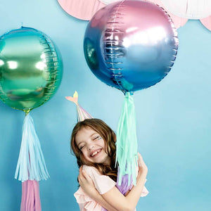 Ombre Foil Balloon Ball Violet & Blue