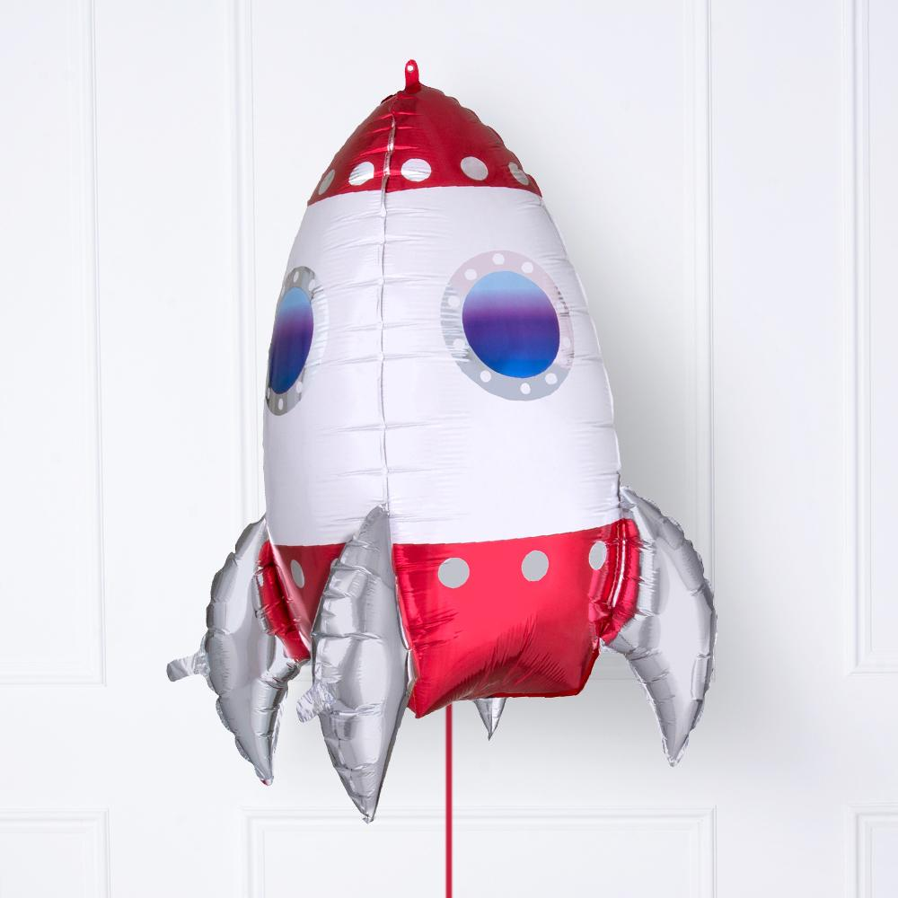 Rocket Ship 3D Foil Balloon