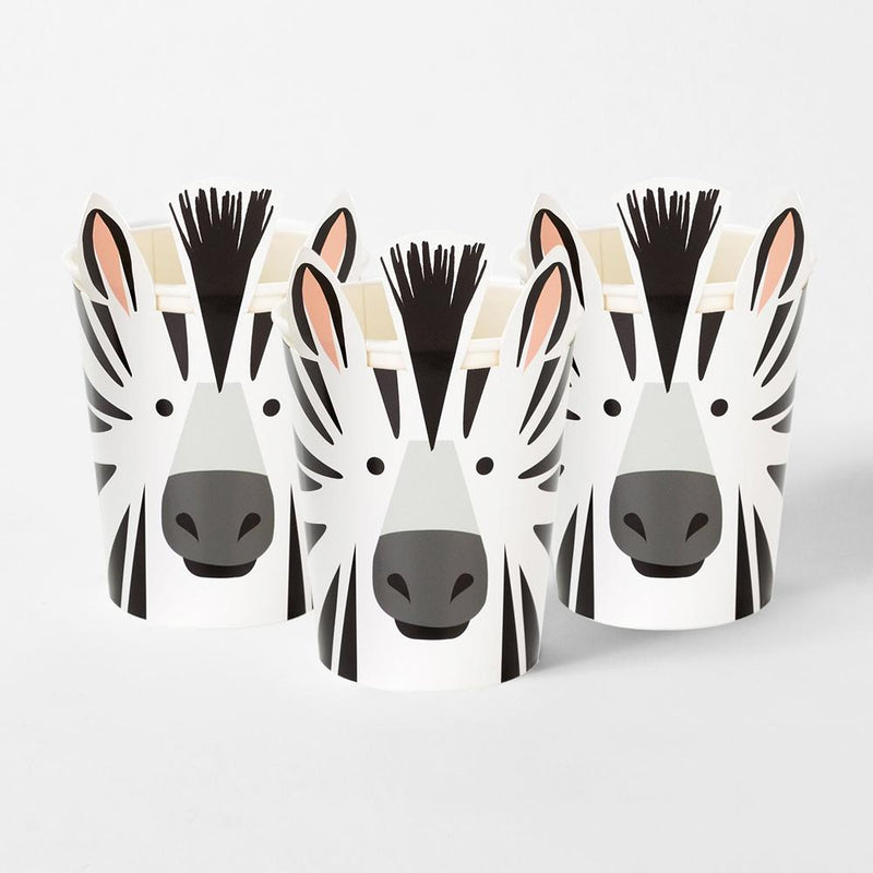 Party Animals Zebra Cup with Wrap (x8)
