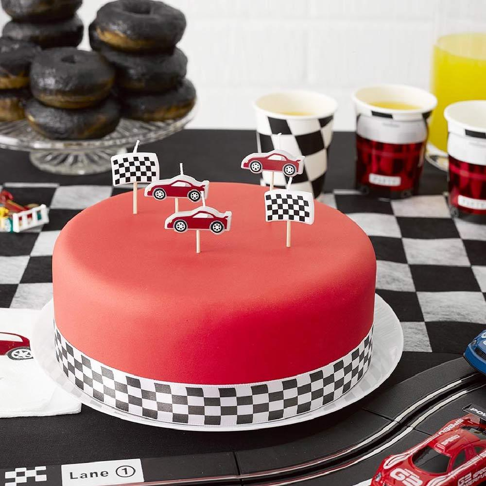 Party Racer Car Shaped Candles (x5)