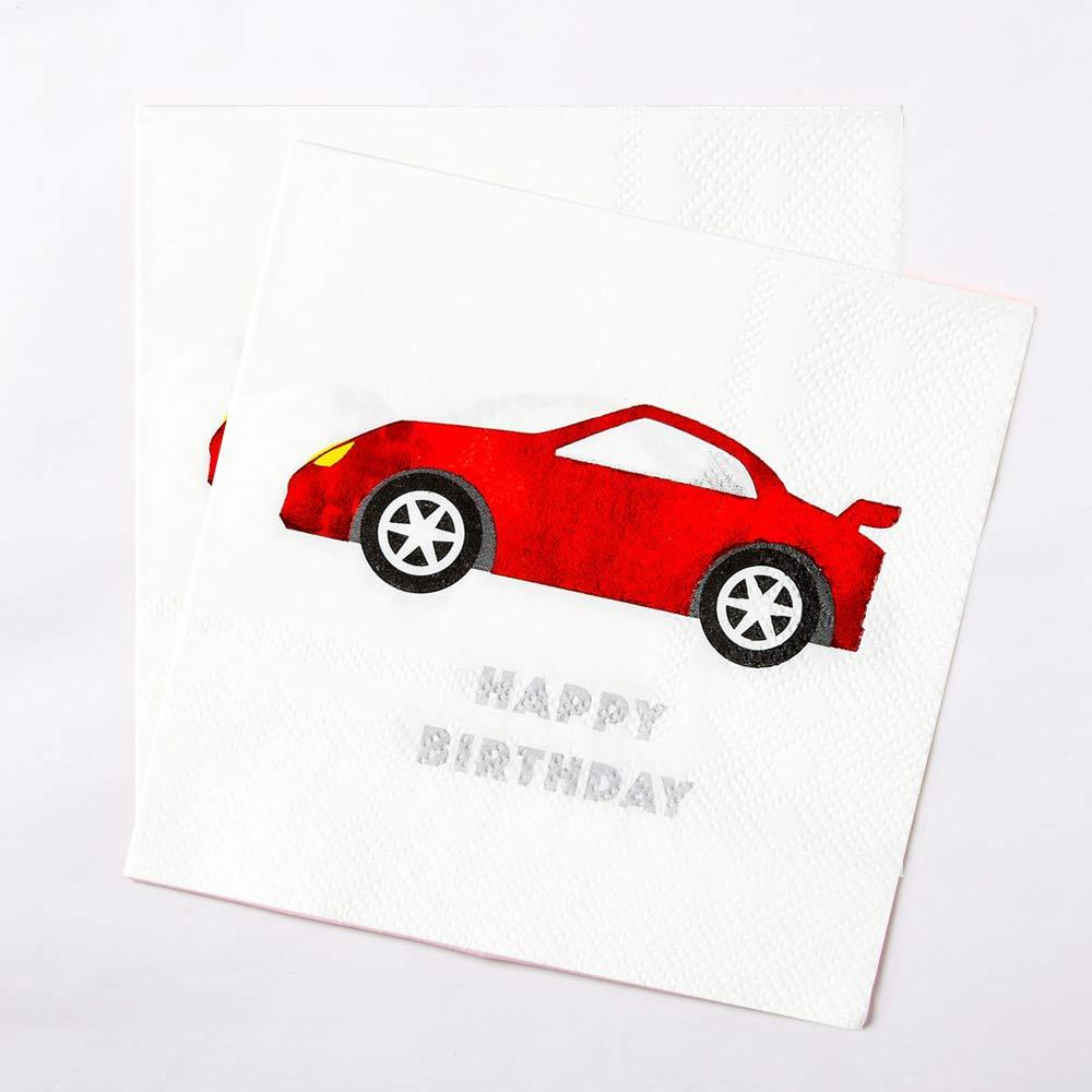 Party Racer Cocktail Napkins (x16)