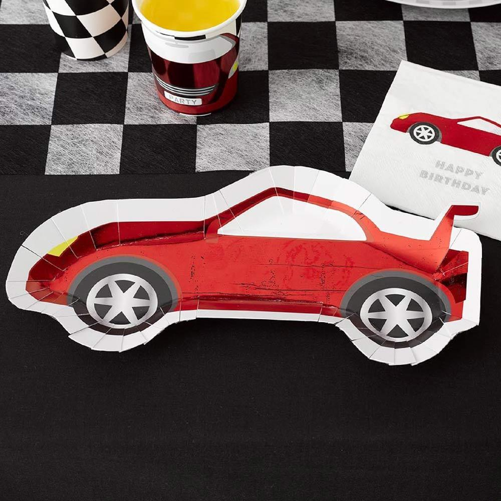 Party Racer Car-Shaped Plates (x8)