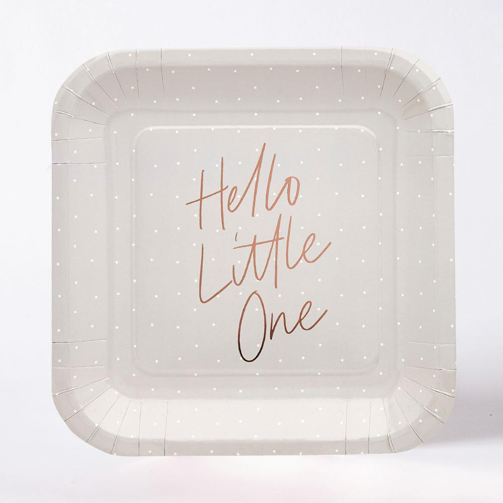 Hello Little One Paper Plates (x10)