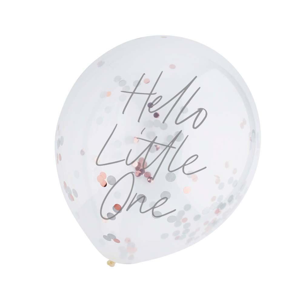 Hello Little One Confetti Balloons (x5)