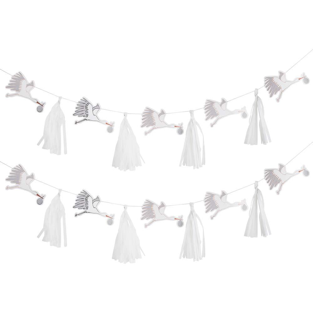 Hello Little One Stork & Tassel Garland 3m