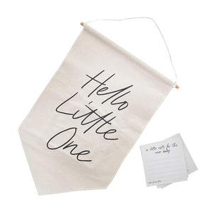 Hello Little One Canvas Sign & Note Cards (x20)