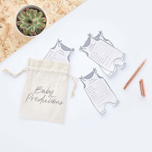 Hello Little One Prediction Cards and Canvas Bag