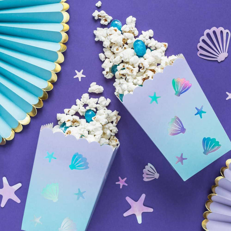 Narwhal Party Popcorn Box (x6)