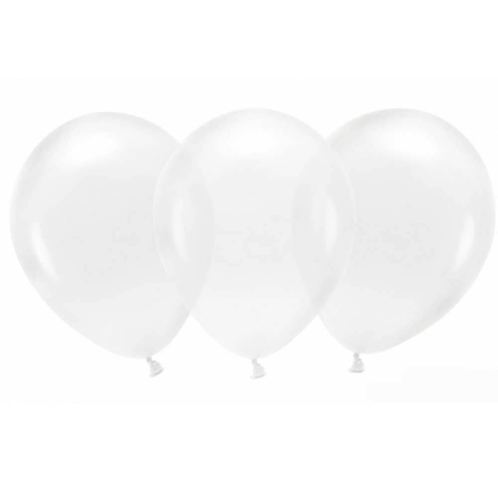 Latex Party Balloons - Crystal Clear (x100)