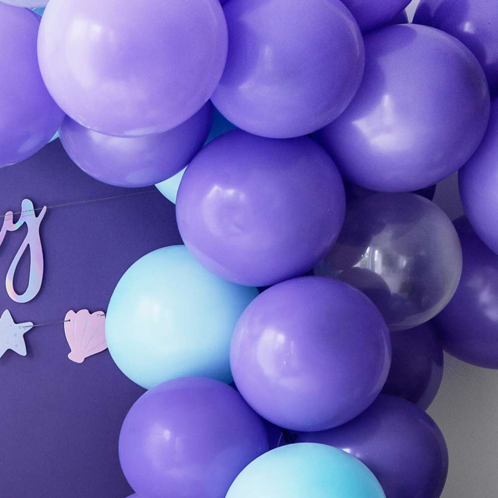 Pastel Latex Balloons - Lavender Blue (x10)