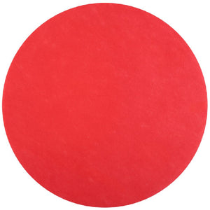 Round Fabric Place Mat - Red (x50)