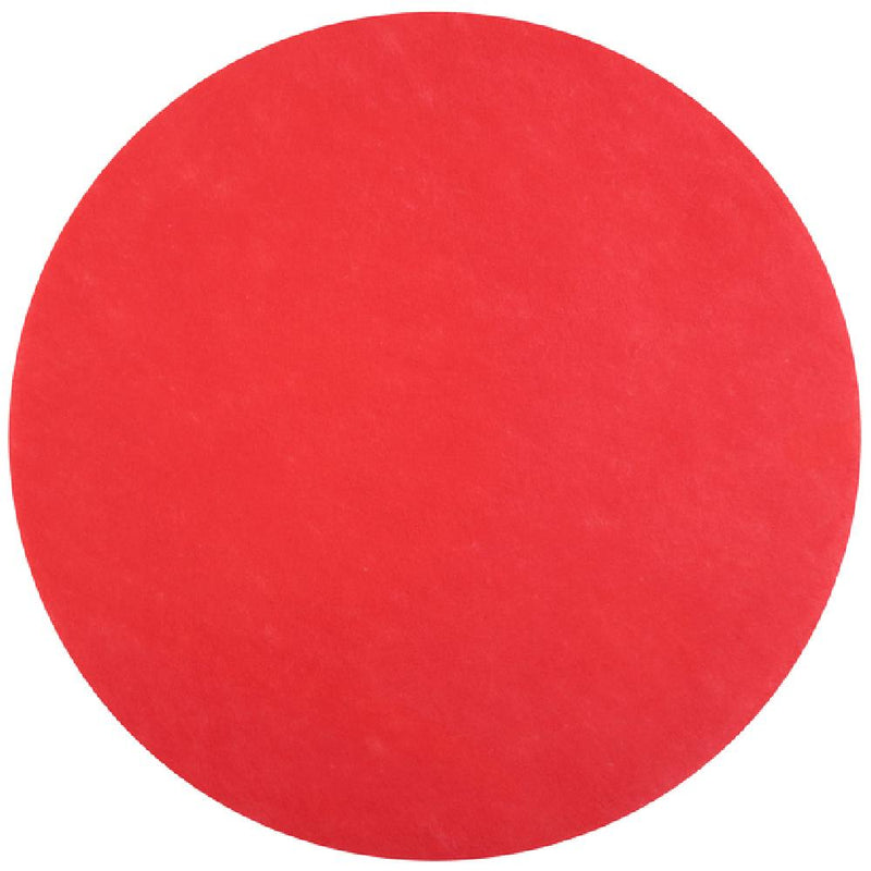 Round Fabric Placemat - Red (x5)