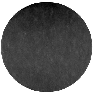 Round Fabric Place Mat, Black (x50)