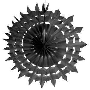 Decorative Party Fans - Black (x2)