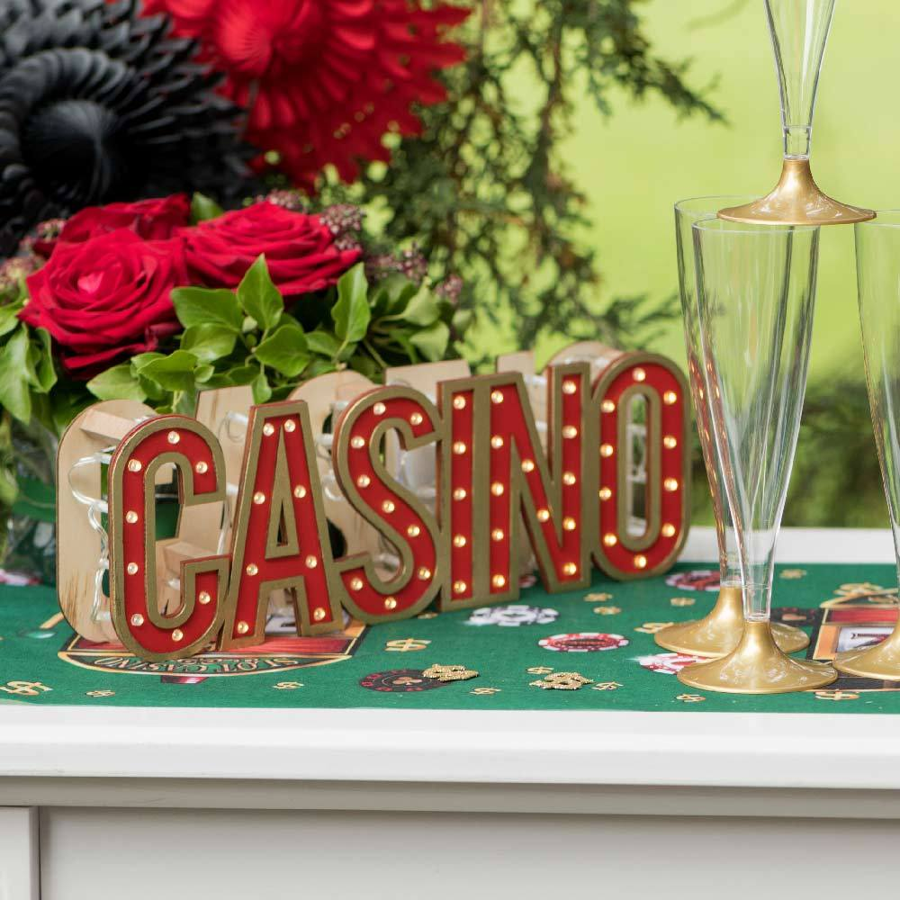 LED light Up Casino Party Table Decoration