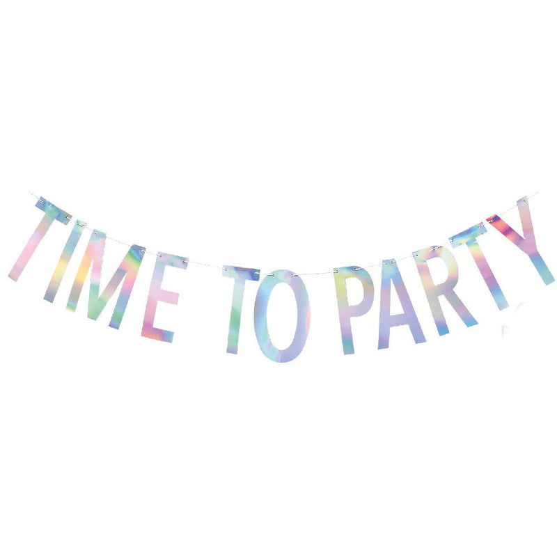 Time To Party Banner 2m