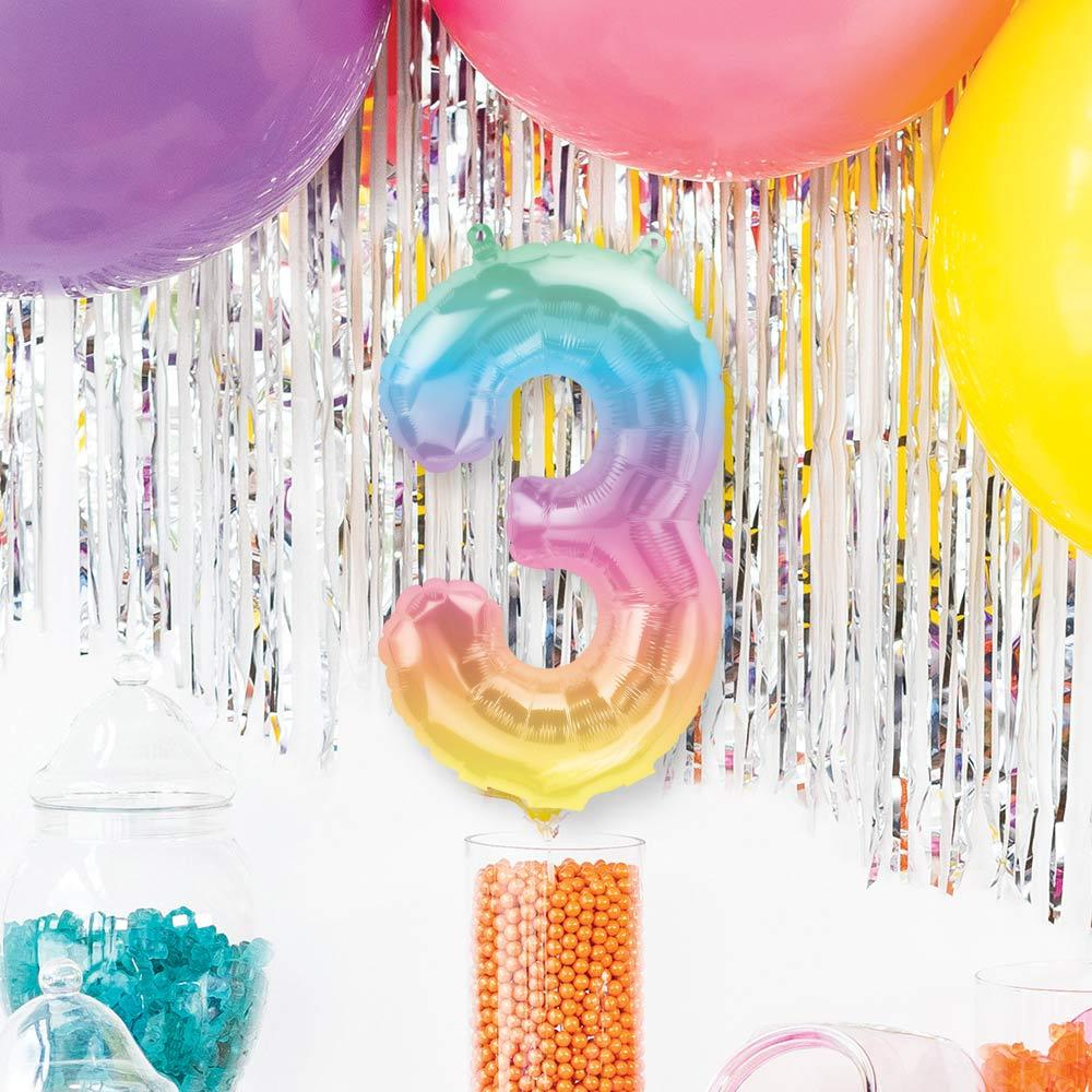 "Ombre 16"" Number 3 Balloon"