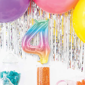 "Air-Fill Ombre 16"" Number 4 Balloon"