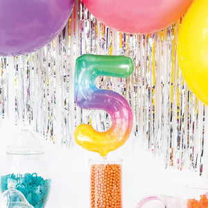 "Air-Fill Ombre 16"" Number 5 Balloon"