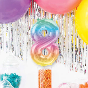 "Air-Fill Ombre 16"" Number 8 Balloon"