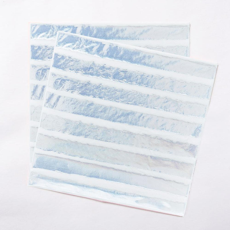 Iridescent Striped Napkins (x20)
