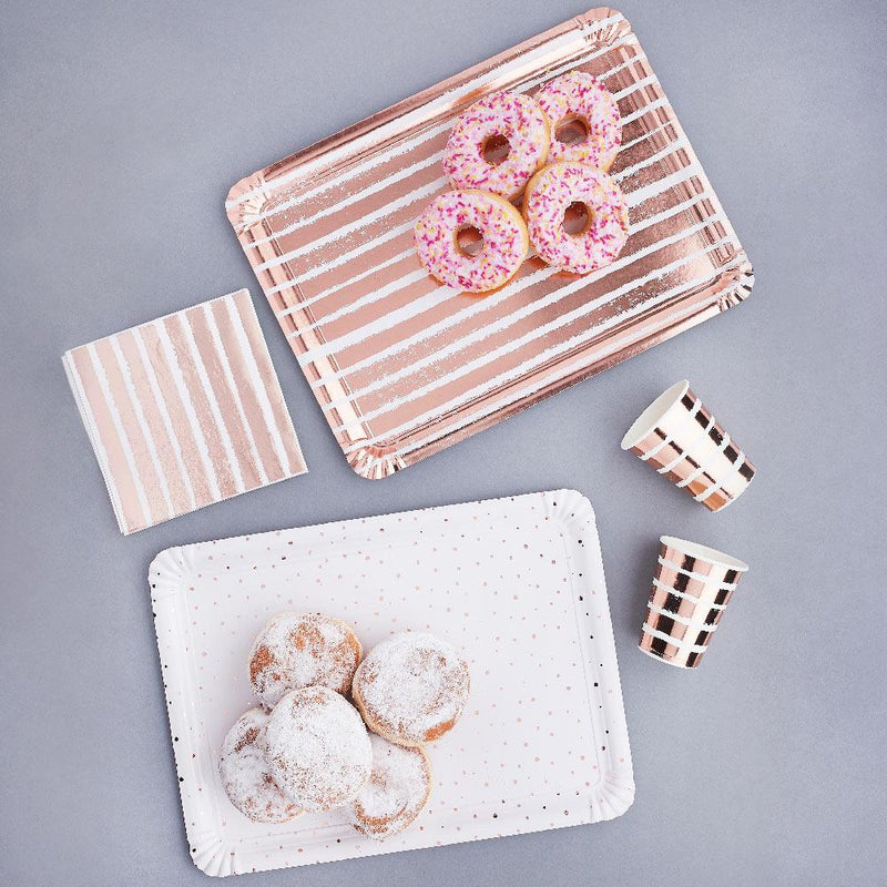 Rose Gold Paper Trays (x4)