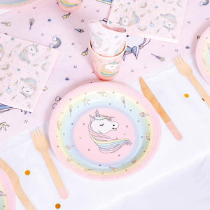 Rainbow Unicorn Party Table Set (10 Guests)