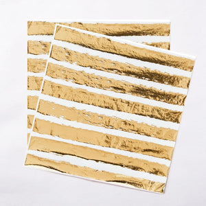Gold Striped Napkins (x20)