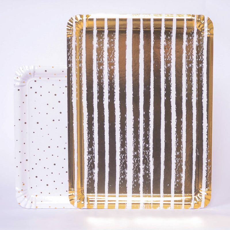 Gold Paper Trays (x4)