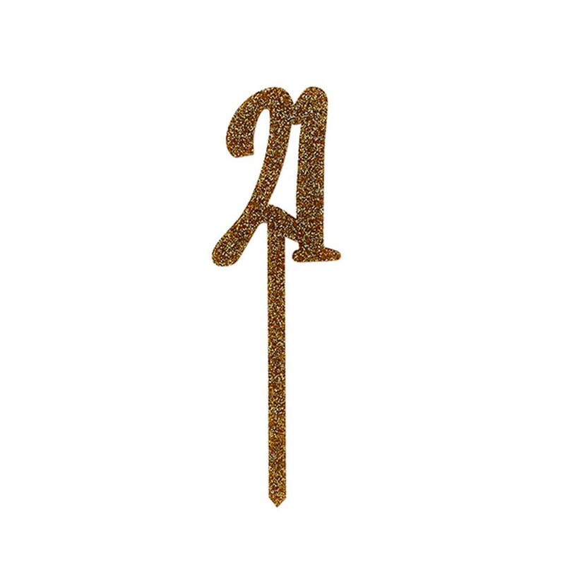 Gold Acrylic '21' Cake Topper
