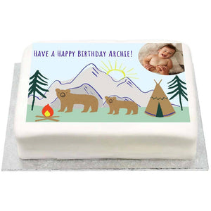 Personalised Photo Cake - Let's Explore 1st Birthday